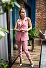 Нарядный женский костюм в полоску - модель 2019  - Код км-501, фото 6