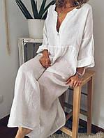 Біле довге плаття вільного крою високий зріст , колір на вибір, фото 1