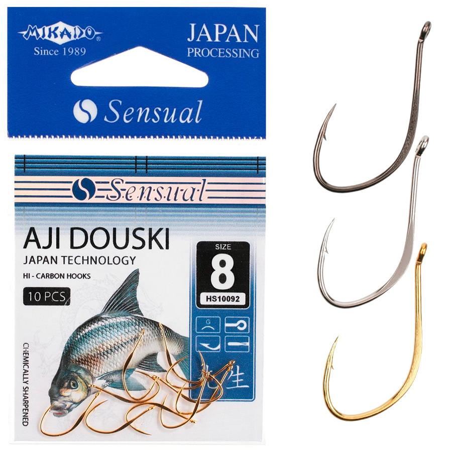 Крючок Mikado Sensual Aji Douski №10 (ушко) 10шт. (gold)
