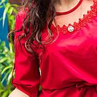 Легкая женская блузка с вышивкой 2019 - (код бл-218), фото 2
