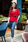 Легкая женская блузка с вышивкой 2019 - (код бл-218), фото 3