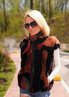 Жилетка норковая в стиле Фенди. Модель 2002056, фото 1