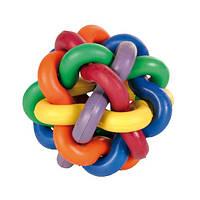 """Игрушка """"Мяч плетеный"""" для собак, 11см, резина/ДТ"""