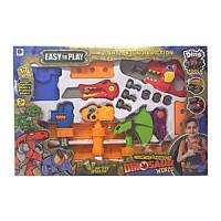 """Детский игровой набор инструментов """"Динозавр"""" 661-352, молоток, топор, пила, звук, свет, батарейки"""