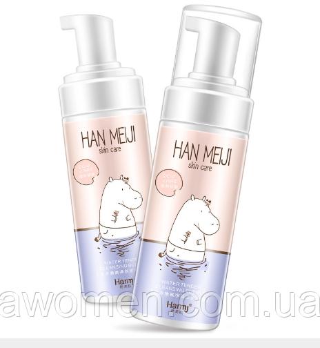 Пенка мусс для умывания Harmj с экстрактом граната и алоэ 160 ml (бегемотик)