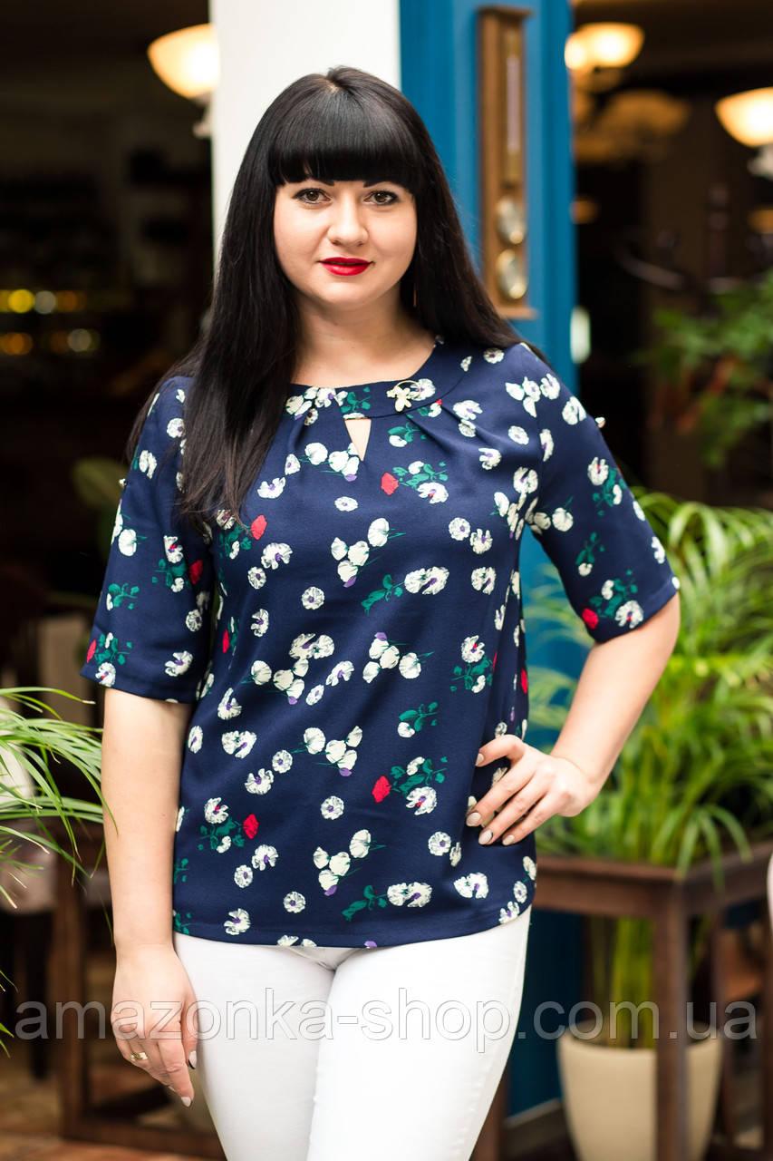 Женская блузка большого размера 2019 - (код бл-571)
