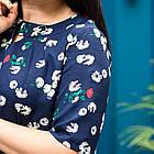 Женская блузка большого размера 2019 - (код бл-571), фото 2