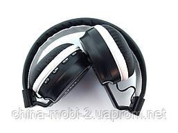 JBL AZ-01 Wireless Headset Extra Bass копия, Bluetooth наушники с FM MP3, черные с белым, фото 3