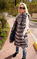 Пальто-трансформер из чернобурки. Модель 2002055, фото 1