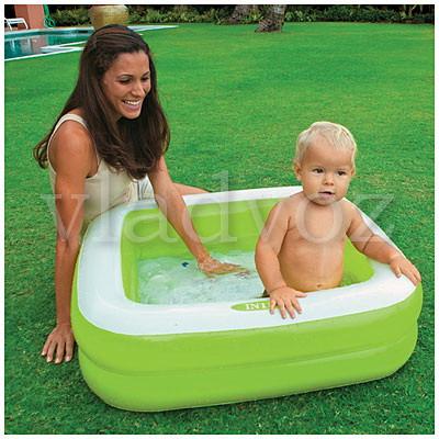 Детский надувной бассейн 57100 intex салатовый