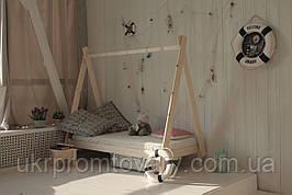 Детская кровать-домик Вигвам в Киеве, натуральное дерево, качество