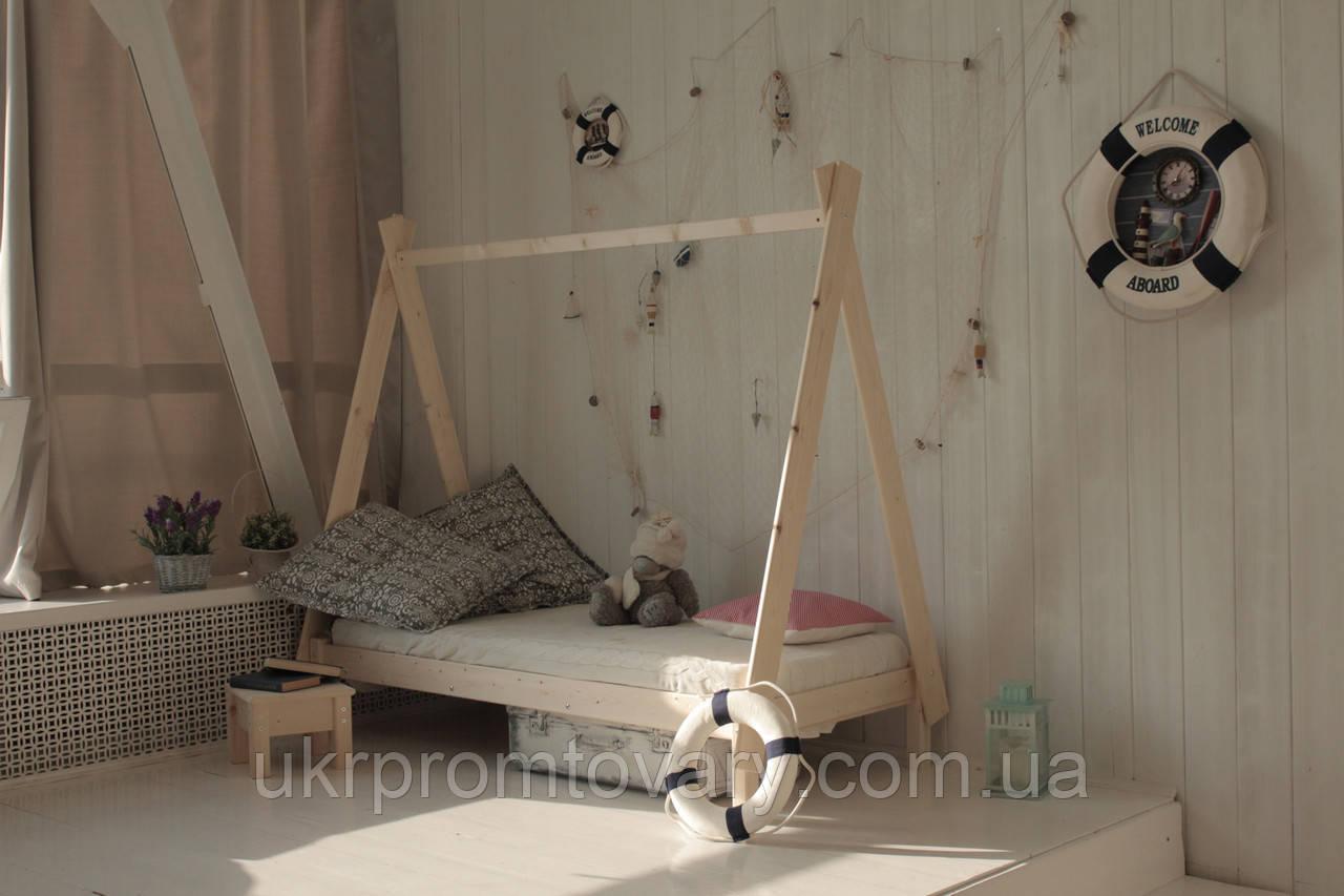 Дитяче ліжко-будиночок Green Mebel Вігвам в Києві, натуральне дерево, якість
