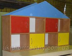 Полиця-надбудова для іграшок та посібників Будиночок в Києві, натуральне дерево, якість