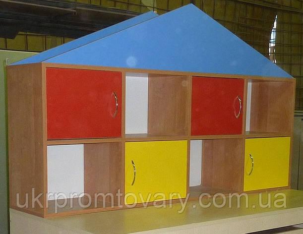Полиця-надбудова для іграшок та посібників Будиночок в Києві, натуральне дерево, якість, фото 2