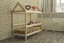 Дитяче ліжко-будиночок Green Mebel Будиночок / Вінгс в Києві, натуральне дерево, якість, фото 2