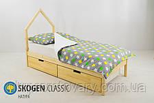 Дитяче ліжко-будиночок міні Skogen натура в Києві, натуральне дерево, якість, фото 2