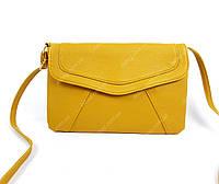 Женская маленькая сумка через плечо, желтая
