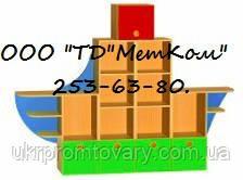 Стелаж дитячий ігровий Кораблик в Києві, натуральне дерево, якість, фото 2