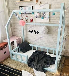 Кроватка домик 160x80 №11 в Киеве, натуральное дерево, качество, фото 2
