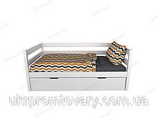 Ліжко з шухлядами 160x80 №5 в Києві, натуральне дерево, якість, фото 2