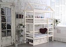 Кровать домик двухъярусная «Baby-house» 70х190 в Киеве, натуральное дерево, качество, фото 3