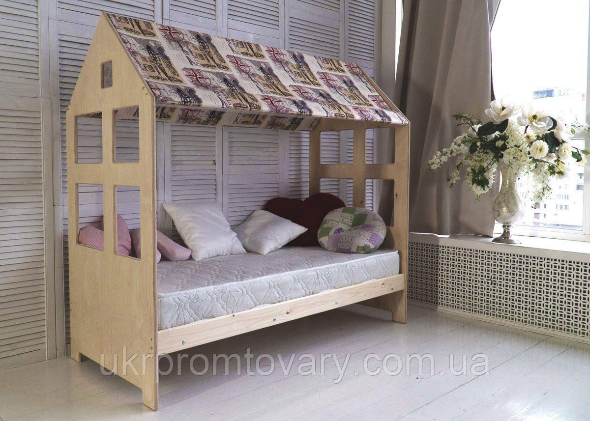 Детская кровать-домик Гномик 700 Х 1900 мм  в Киеве, натуральное дерево, качество