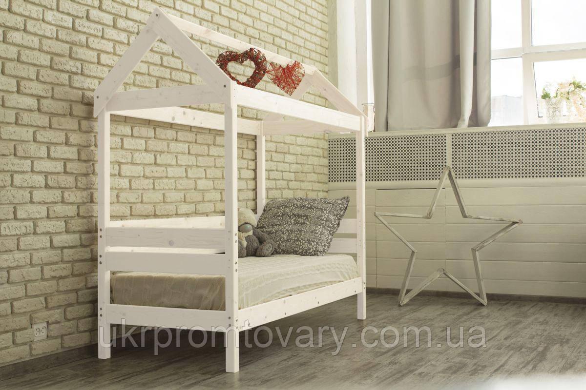 Детская кровать-домик Вингс 700 Х 1600 мм [Белый] в Киеве, натуральное дерево, качество