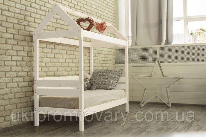 Детская кровать-домик Вингс 700 Х 1600 мм [Белый] в Киеве, натуральное дерево, качество, фото 2