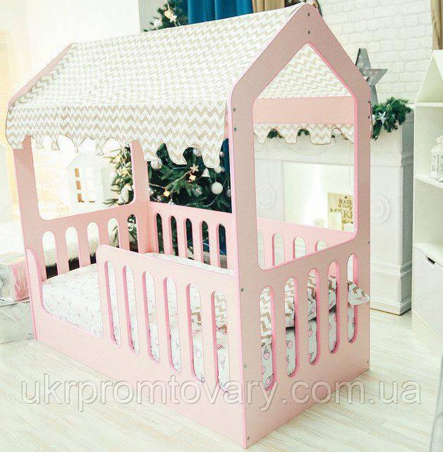 Ліжечко Рожевий Будиночок (без ящика ) (Світ Меблів) (МГ) в Києві, натуральне дерево, якість
