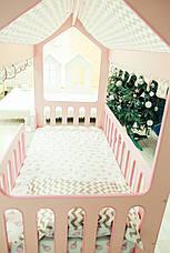 Ліжечко Рожевий Будиночок (без ящика ) (Світ Меблів) (МГ) в Києві, натуральне дерево, якість, фото 2