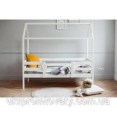 Ліжко-будиночок №3, колір білий, спальне місце 70 x 140 см в Києві, натуральне дерево, якість, фото 2
