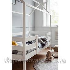 Ліжко-будиночок №3, колір білий, спальне місце 70 x 140 см в Києві, натуральне дерево, якість, фото 3