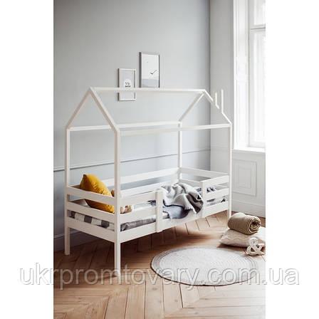 Кровать-домик №3, цвет белый, спальное место 70 x 160 см в Киеве, натуральное дерево, качество, фото 2