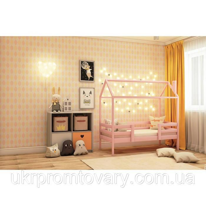 Ліжко-будиночок №4, колір рожевий, спальне місце 70 x 140 см в Києві, натуральне дерево, якість