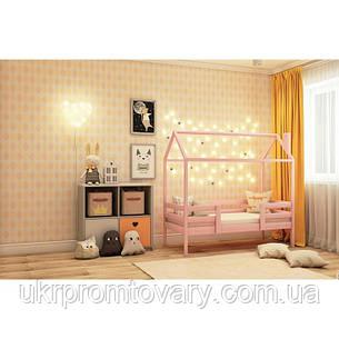 Ліжко-будиночок №4, колір рожевий, спальне місце 70 x 140 см в Києві, натуральне дерево, якість, фото 2