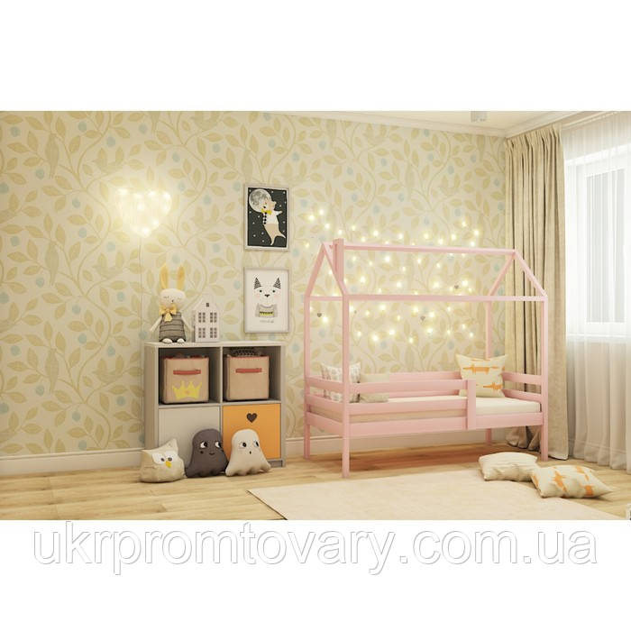 Кровать-домик №6, цвет розовый, спальное место 70 x 160 см в Киеве, натуральное дерево, качество