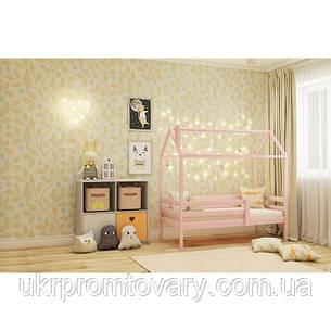 Кровать-домик №6, цвет розовый, спальное место 70 x 160 см в Киеве, натуральное дерево, качество, фото 2