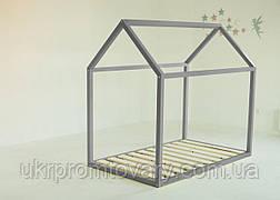 Дитяче ліжко-будиночок Ліжко Дрима Base 900 Х 1900 мм [Сірий Ral 7037] в Києві, натуральне дерево, якість
