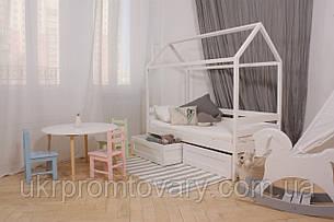 Дитяче ліжко-будиночок КД-4 з ящиками (масив) в Києві, натуральне дерево, якість, фото 2