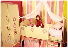 Ліжко верхня з драбинкою Принцеса в Києві, натуральне дерево, якість, фото 3