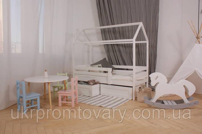 Кровать-домик КД3+ЯВ1 700*1400 мм в Киеве, натуральное дерево, качество, фото 2