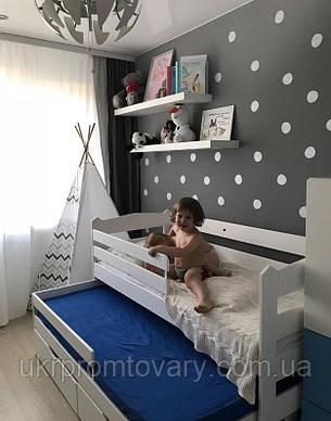 Двоярусна висувна ліжко в Києві, натуральне дерево, якість, фото 2