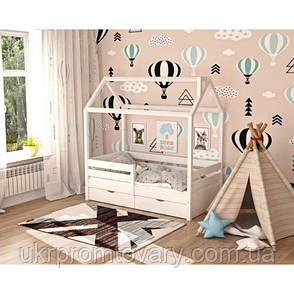 Дитяче ліжко будиночок «Хатинка» в Києві, натуральне дерево, якість, фото 2