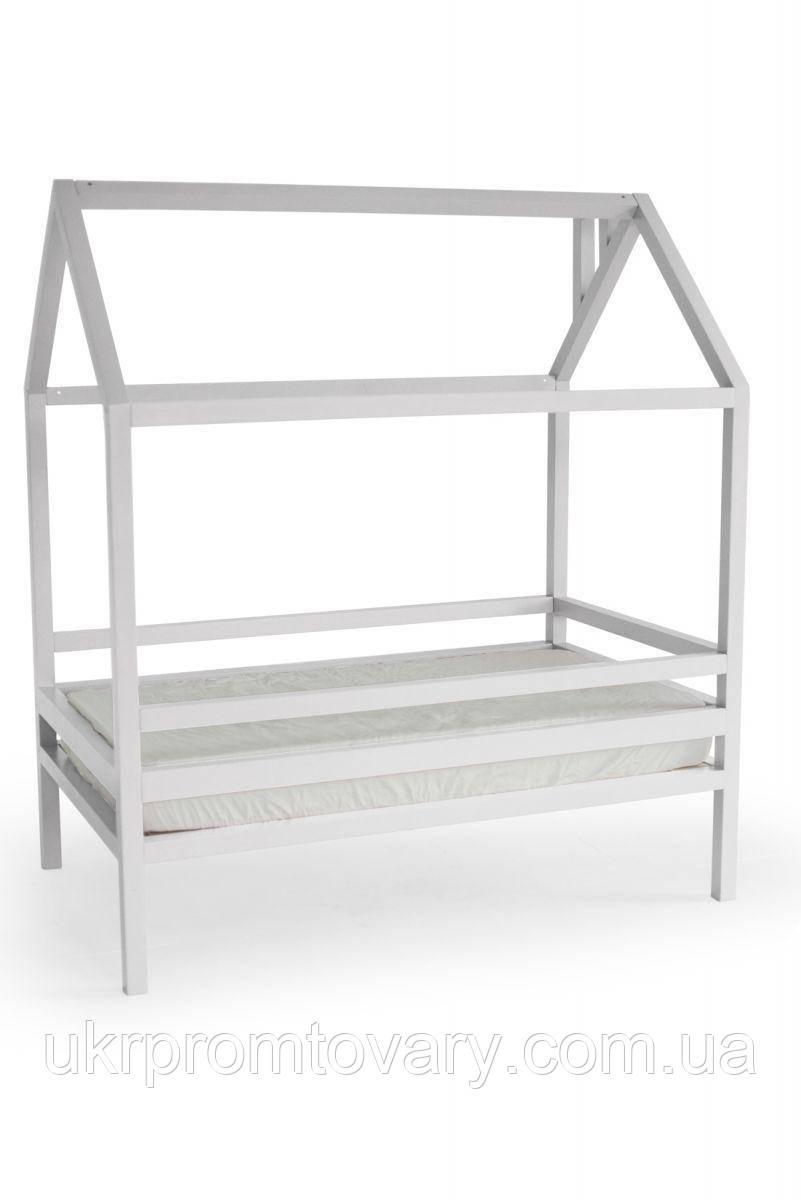 Детская кровать-домик Кровать Дрима Н 800 Х 1900 мм [Белый Ral 9003] в Киеве, натуральное дерево, качество