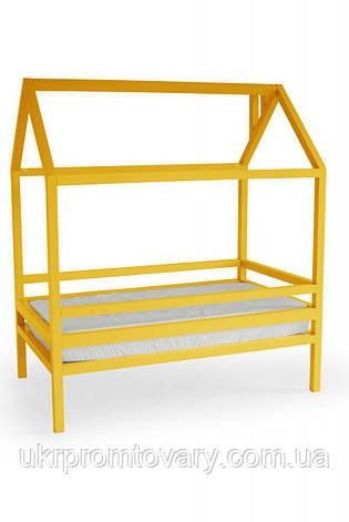 Детская кровать-домик Кровать Дрима Н 900 Х 1900 мм [Желтый Ral 1003] в Киеве, натуральное дерево, качество, фото 2