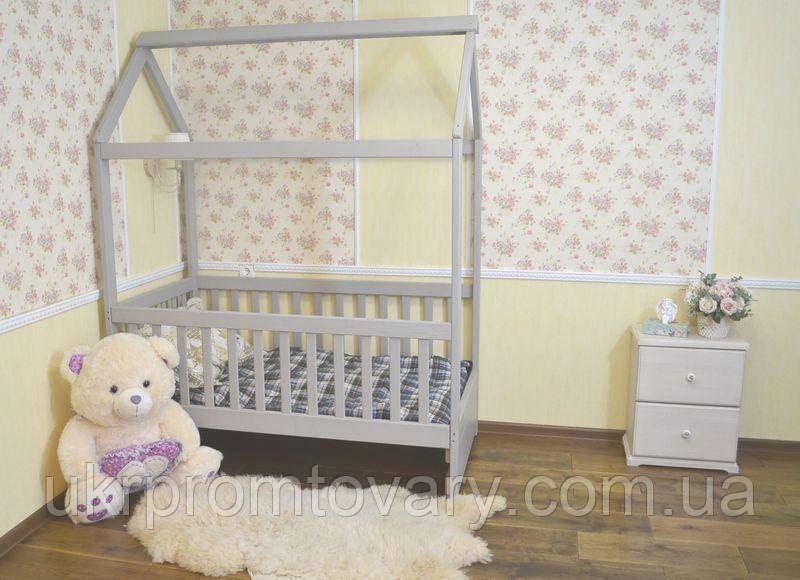Детская кровать домик Маня 1900*800 мм, ЦЕННАЯ ПОРОДА БУКА, Без покраски в Киеве, натуральное дерево, качество