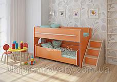 Двухъярусная кровать выкатная Легенда 23.4 в Киеве, натуральное дерево, качество, фото 2