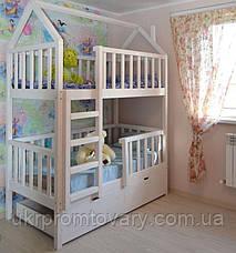 Детская кровать  домик Артёмка 1900*900 мм, ЦЕННАЯ ПОРОДА БУКА, Без покраски в Киеве, натуральное дерево, качество, фото 3