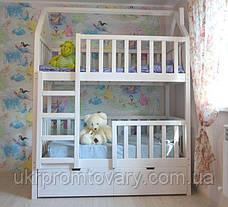 Детская кровать  домик Артёмка 1900*900 мм, ЦЕННАЯ ПОРОДА БУКА, Без покраски в Киеве, натуральное дерево, качество, фото 2