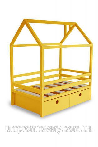 Дитяче ліжко-будиночок Ліжко Дрима Box 800 Х 1900 мм (Жовтий Ral 1003] в Києві, натуральне дерево, якість, фото 2